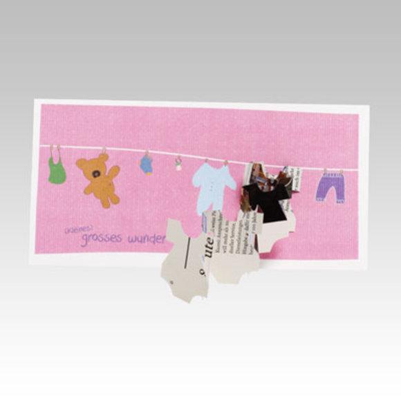 Geburtskarte mit Scherenschnitt