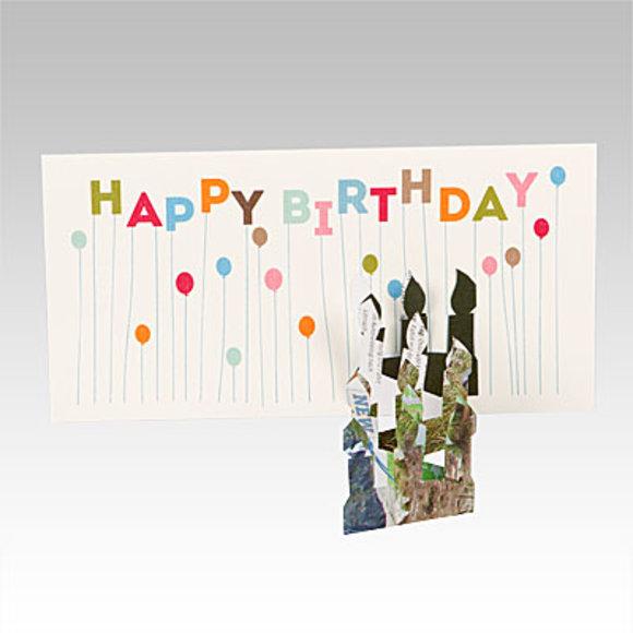 Geburtstagskarte mit Scherenschnitt
