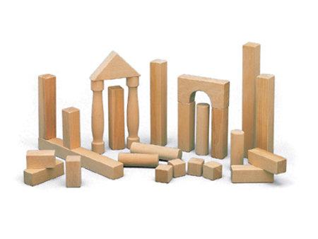 Bauklotzformen aus Holz
