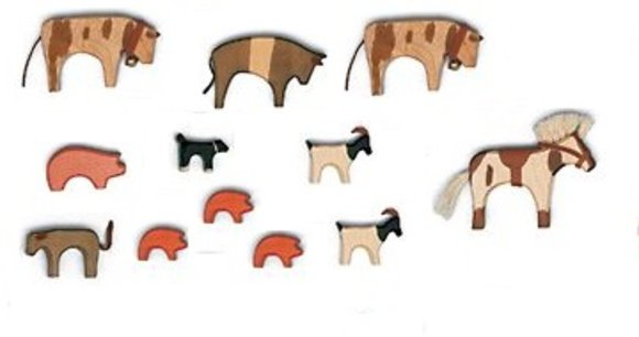 Tierset aus Holz