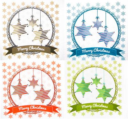 Weihnachtskarte Stern mit Verzierung