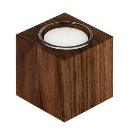 teelichthalter aus nussbaumholz. Black Bedroom Furniture Sets. Home Design Ideas